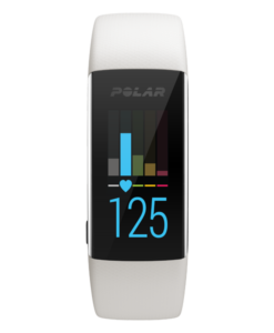 Polar A370 Fitness Tracker with Wrist-Based Heart Rate - M/L - White