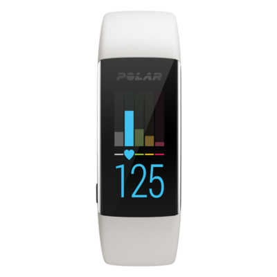 Polar A370 Fitness Tracker with Wrist-Based Heart Rate - S - White