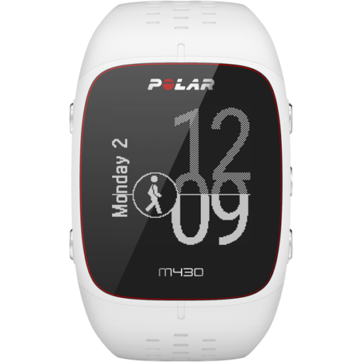 Polar M430 GPS Running Watch with Wrist-Based Heart Rate - White - Small